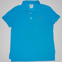 Lacoste Polo Shirt Mens Size 3 - Xs Aqua Teal Blue Extra Small S/s Slim Knit Photo