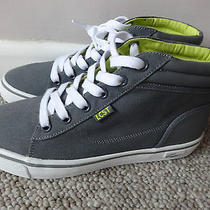 Lacoste Pop Stop Scj Mid  Ladies Trainers Shoes Mid Grey  Uk 4 Eu 37 Us 5. New Photo