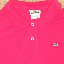 Lacoste Red Gator Logo Collared Stretch Polo Shirt Womens Size 42 Photo