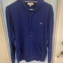 Lacoste Regular Fit Blue Light Weight Hoodie Pullover Size L Photo