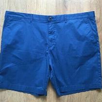 Lacoste Regular Fit Mens Blue Chino Shorts Pima Cotton Size Us 48 Fr 58 - Bnwt Photo