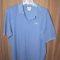 Lacoste Sharp Looking Blue Polo Mens Collared Shirt  Sz M/l (No Size Tag) Photo