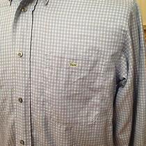 Lacoste Shirt M Mens M Long Sleeve Plaid Button Down France 100% Cotton Photo