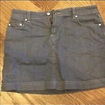 Lacoste Size 38 Grey Denim Skirt Photo