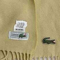 Lacoste Solid Yellow Unisex Wool Long Scarf 60/10 Inches Photo