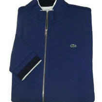 Lacoste Sport Full Zip Sweatshirt Size 8/3xl Blue Jacket Great Christmas Gift Photo