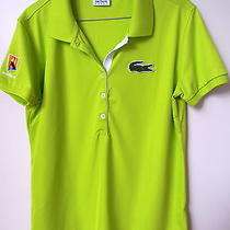 Lacoste  Sport  -  Lime  Polo Shirt  -  Size  44  -   Like New Photo