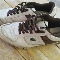 Lacoste Sport Men's White & Brown Sneakers Size 10.5 Photo