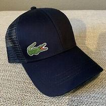 Lacoste Sport Mesh Trucker Cap Hat Navy Blue Photo