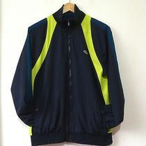Lacoste Sport Shell Track Jacket Size 4 (Medium) Blue 90's Retro Vintage Style Photo