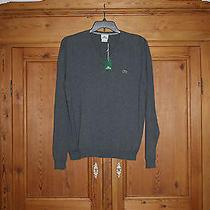 Lacoste Sweater Gray 100% Cotton Sz 6 Euc Photo
