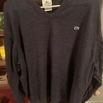 Lacoste Sweater Navy Mens Xxxxl Size 9. Used  Photo