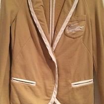 Lacoste Tan & White Casual Cotton Blazer Jacket Size 36/us 4 W Alligator Logo Photo