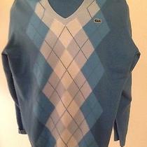 Lacoste v-Neck Sweater Size 4 Blue Photo