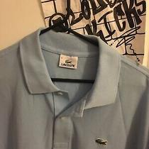 Lacoste Vintage Polo Size 6 Us Large Baby Blue Photo