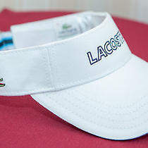Lacoste Visor - White 100% Cotton Photo