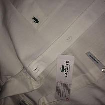 Lacoste White Dress Shirt  (Retail Price 88) Photo