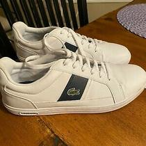 Lacoste White Leather Sneakers Size 9 Photo