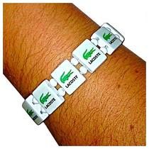 Lacoste White Wooden Bracelet. (Wristbands Shoes Shirts Polo Men's Women's) Photo