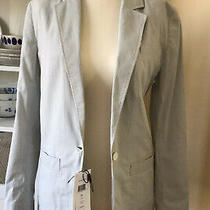 Lacoste Womans New Cotton Blazer. Size 8 (36). Pale Blue & White Small Check. Photo