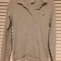 Lacoste Women Grey Fall Poli Style Top European Size 36 Photo