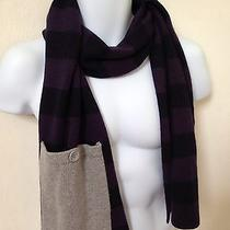 Lacoste Women's Bi-Color Scarf W/ Pocket. Viscose/wool/polyamide/angora/cashmere Photo