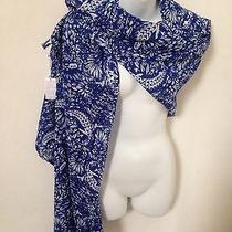 Lacoste Women's Blue Crocodile Printed Light Weight Fashion Scarf/shawl/wrap Photo