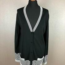 Lacoste Women's Cotton Blend Cardigan Sweater Size 44 Photo