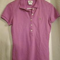 Lacoste Women's Purple Polo Cotton Shirt Short Sleeve Size 36 Photo