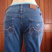 Lacoste Women's Size 34 Blue Jeans W/ 1/2