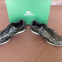 Lacoste Women's Sneaker Shoes Black With Gold Trimming Size Usa 7.5 Photo
