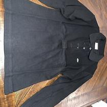 Lacoste Womens Long Sleeve Sport Button Polo Shirt - Size 38 - Black Photo