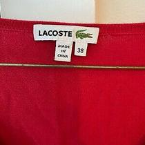 Lacoste Womens Red Sweater Size 38/m Photo