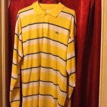 Lacoste Yellow Ls Shirt Size 5 Xl 11  Photo