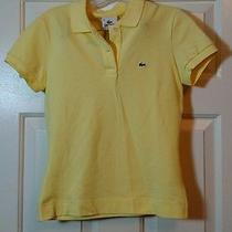 Lacoste Yellow Polo Shirt Sleeved 38 Medium Photo