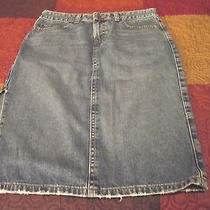 Ladies American Eagle Outfitters Great Looking Feminine Long Jean Skirt  Size 2 Photo