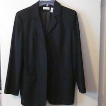 Ladies Ann Taylor Black Wool Blazer/jacket (6) Photo