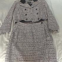 Ladies Apparel Vintage Express Black Velvet English Collar Jacket Skirt Suit S M Photo