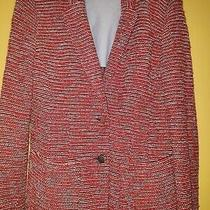 Ladies Armani Jeans Jacket Red/navy Flock Size 44  Photo