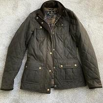 Ladies Barbour Brown Quilted Utility Jacket Size 8 Xs Would Fit a 6 Photo