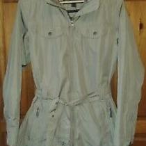 Ladies Barbour Featherweight Grace Fawn Beige / Brown Spring Jacket Size Uk 14  Photo