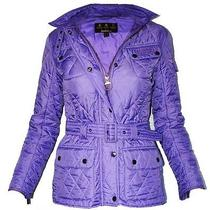 Ladies Barbour Flyweight International Purple Quilted Jacket  Photo