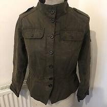 Ladies Barbour L2006 Short Shaped Brown Wax Cotton Peplum Jacket Uk 10 Photo