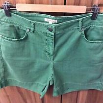 Ladies Barbour Seafarer Sherperdine Shorts Linden Green Denim Shorts Size 16 Photo