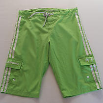 Ladies Billabong Boardshorts Quick Dry Green Size 14 Like New Photo