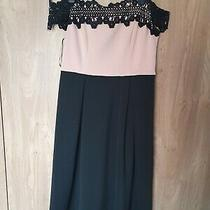 Ladies Black and Blush Occasion Dress. Size 14 Photo