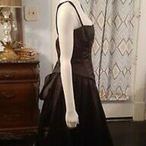 Ladies Black Corset Wedding Dress With Bustle New With Tags Jessica Mcclintock  Photo