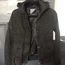 Ladies Black Fabric Volcom Bomber Style Jacket Uk Size Xs Photo