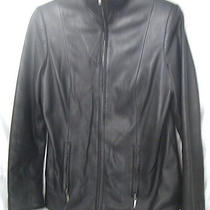 Ladies Black Lamb Leather Jacket Photo