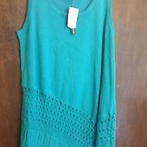 Ladies Blouse Nwt Grace Element Size M Color Teal Retailed Price 60.00  Photo